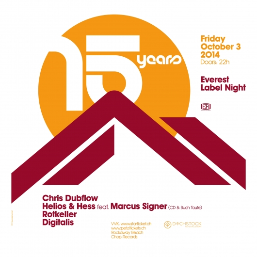 release 15 Years Everest Label Night