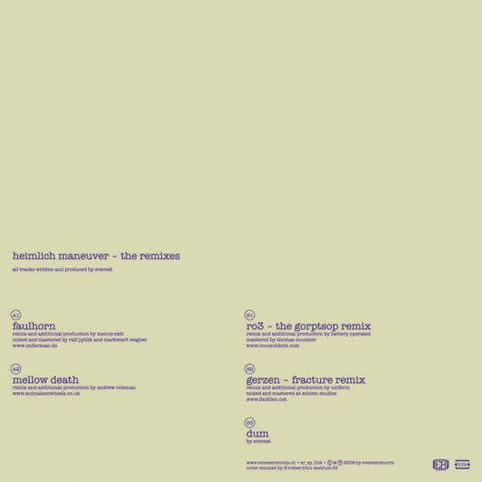 Release er_012 (Various Artists - Heimlich Maneuver - The Remixes)