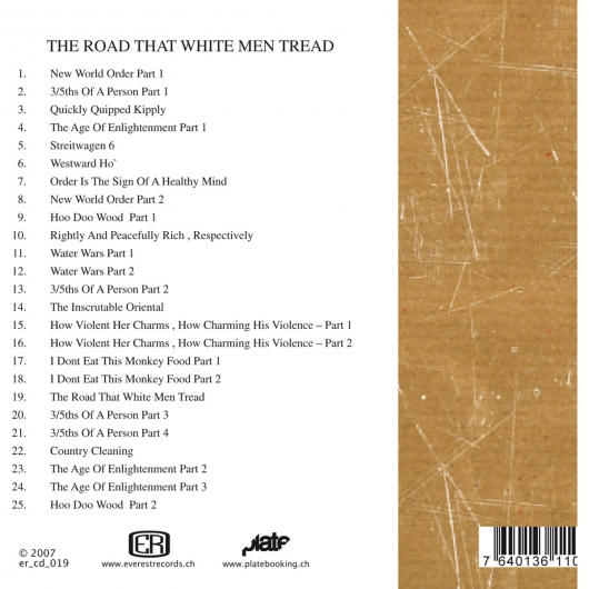Release er_019 (Bushwac - The Road That White Men Tread)